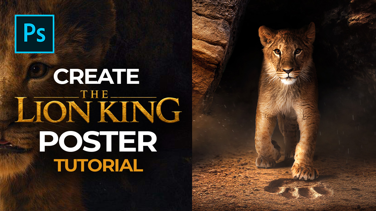 The Lion King Poster –  Photoshop Tutorial