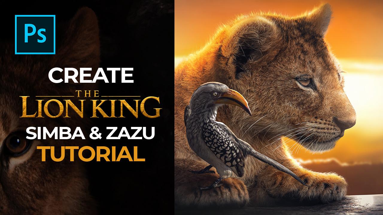 Simba & Zazu – Photoshop Tutorial