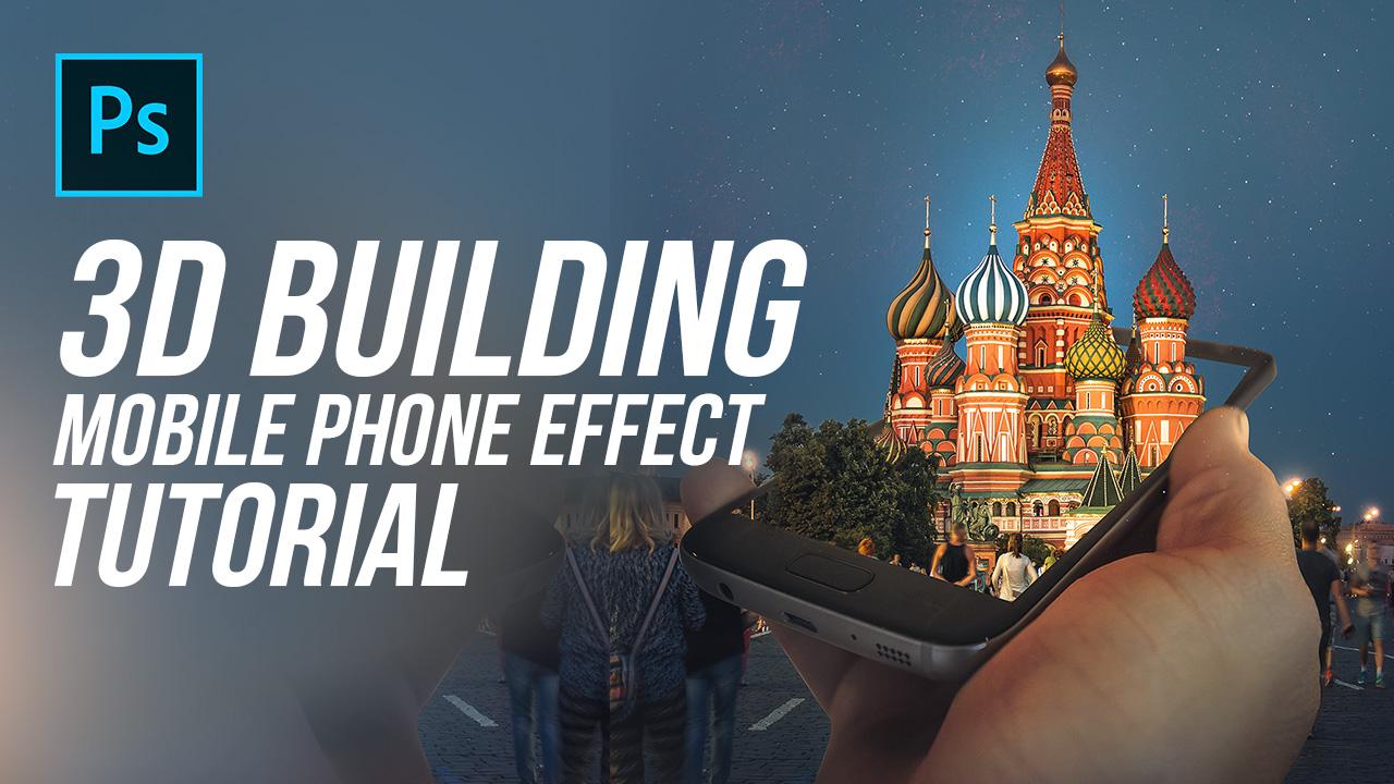 3D Mobile Phone – Photo Effect- Photoshop Tutorial