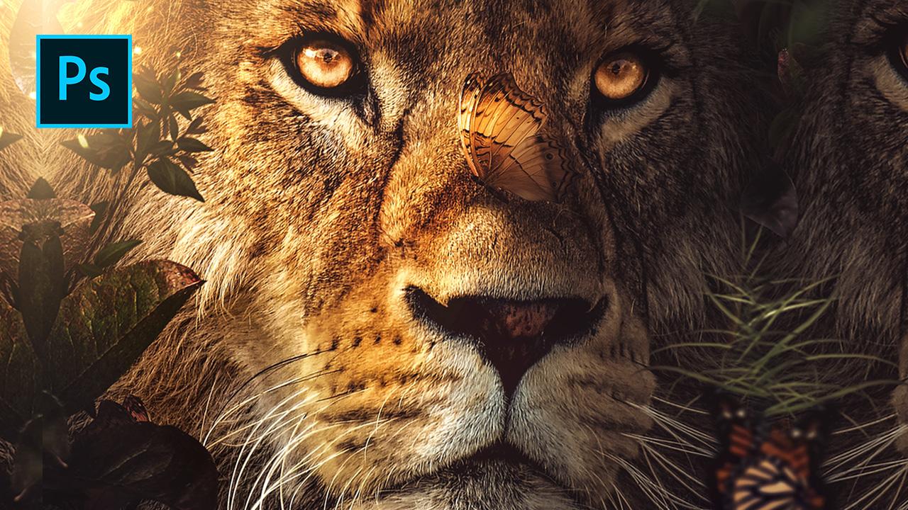 Mysterious Lion – Photoshop Manipulation Tutorial