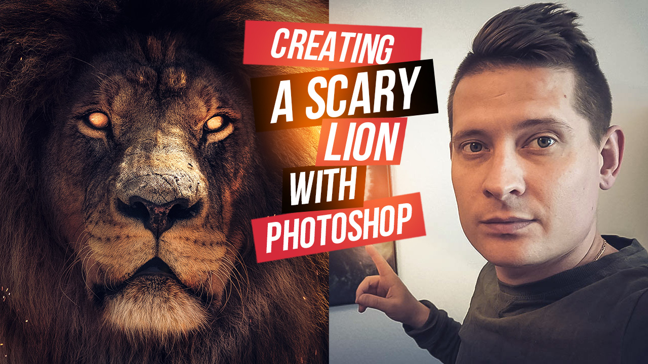Easy Photoshop Lion Tutorial – Digital Art Photo Effect