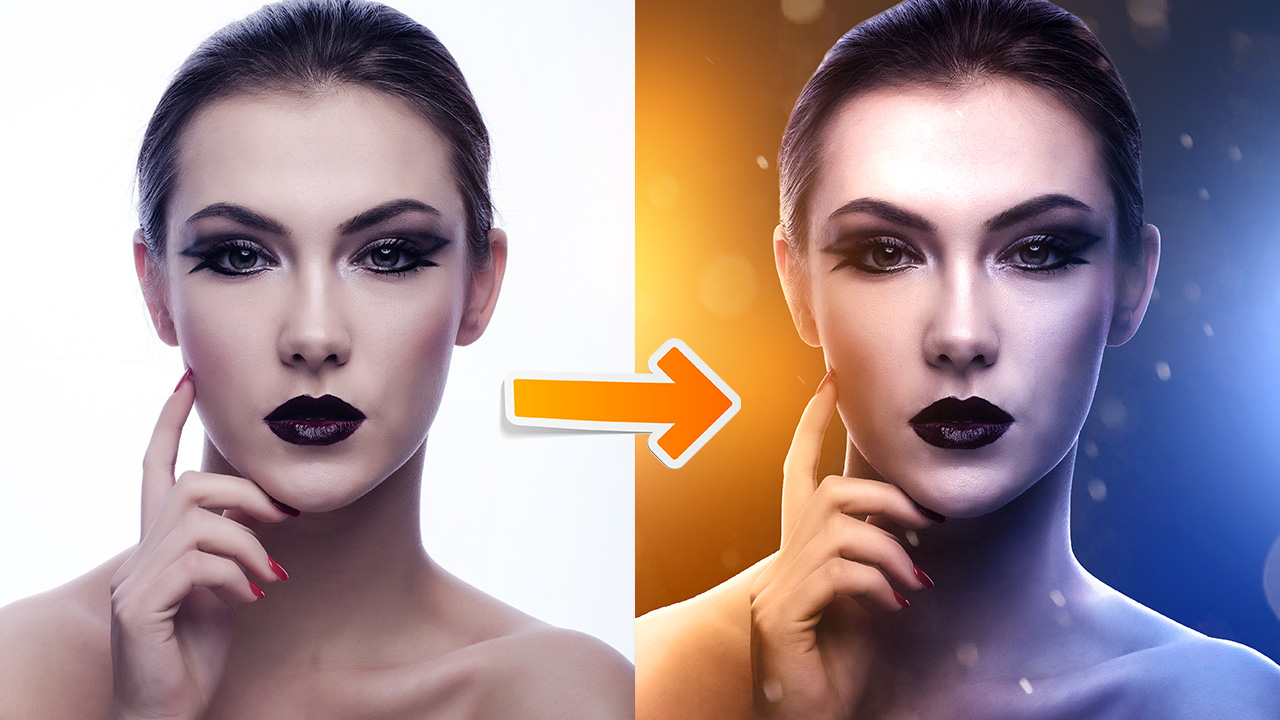 Dual Tone Portrait Lighting Effect – Photoshop For Beginners #1