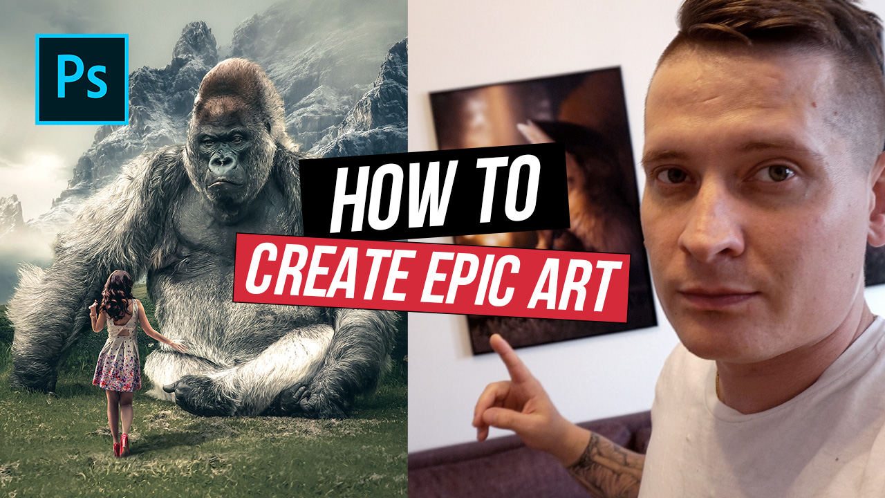 Huge Gorilla – Photoshop Manipulation Tutorial