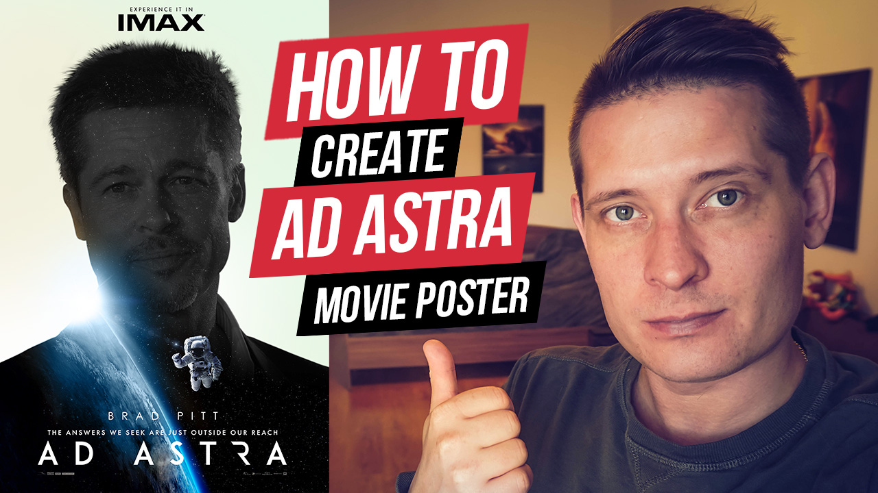 How To Create Ad Astra Movie Poster