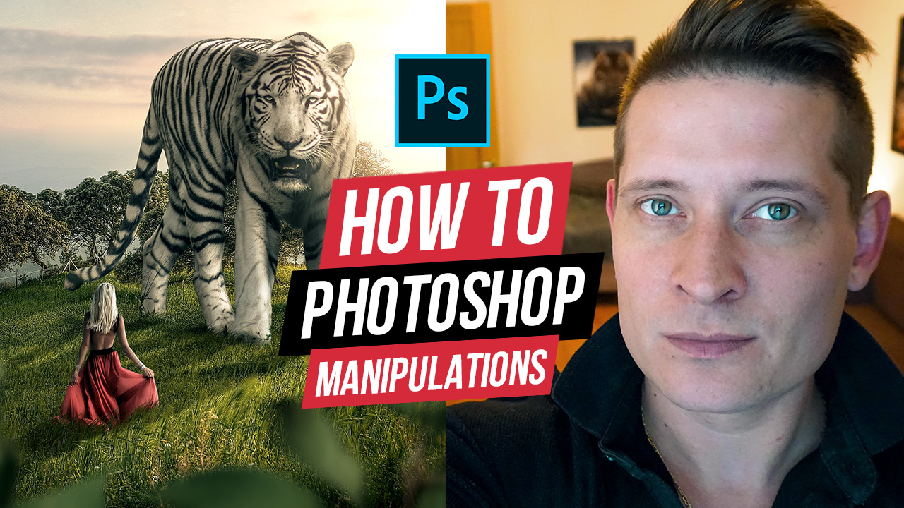 Big Tiger Photoshop Manipulation Tutorial Compositing