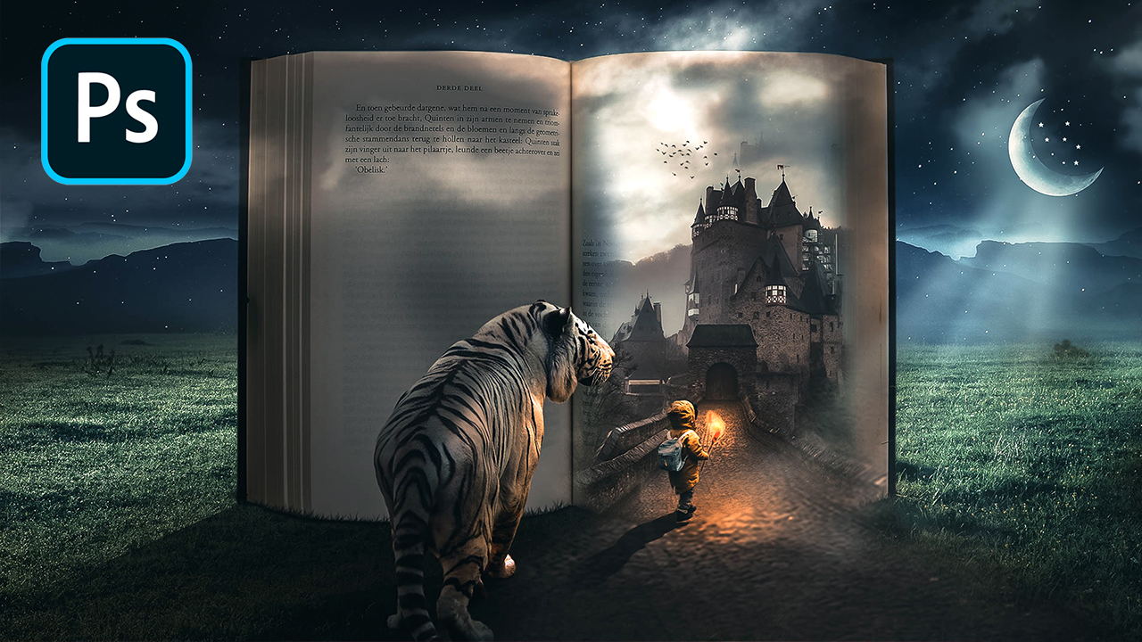 Fairy Tale Book Manipulation in Photoshop