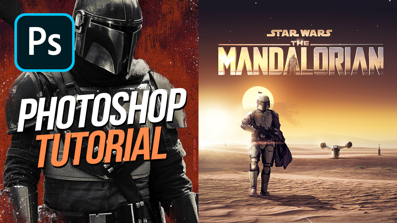 How to Recreate The Mandalorian Poster Artwork in Photoshop