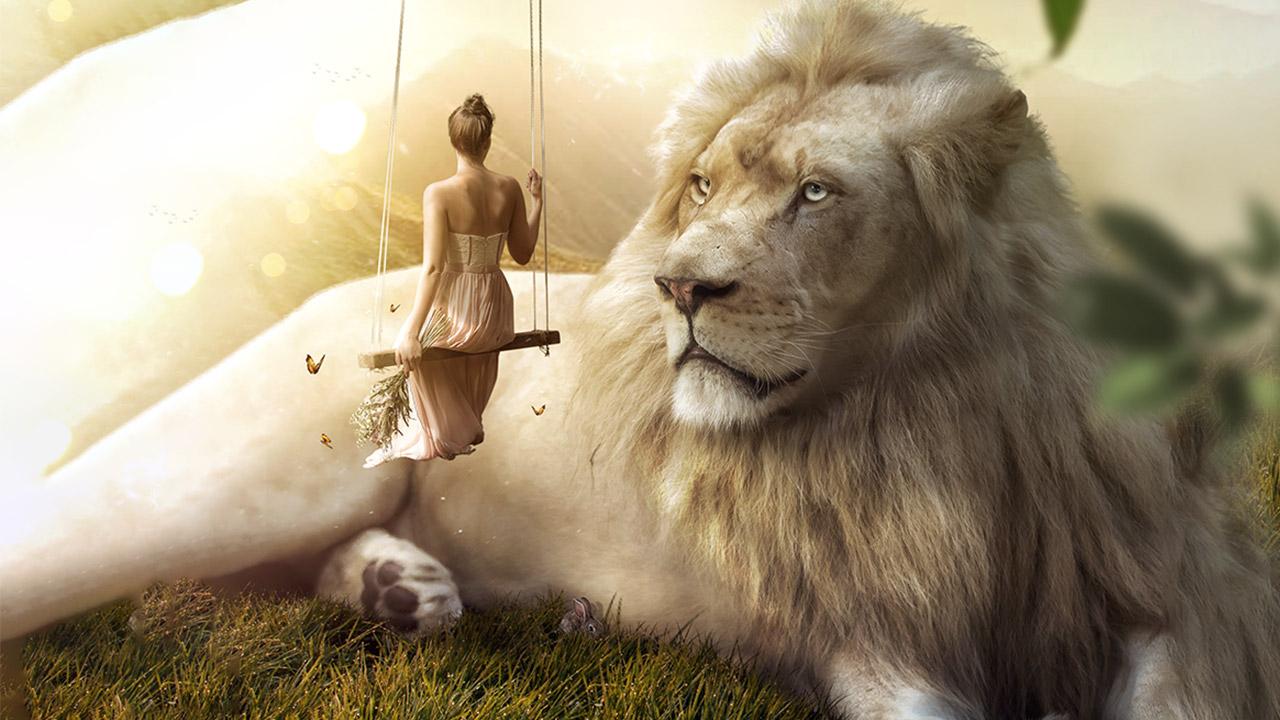 Big White Lion – Photoshop Manipulation Tutorial