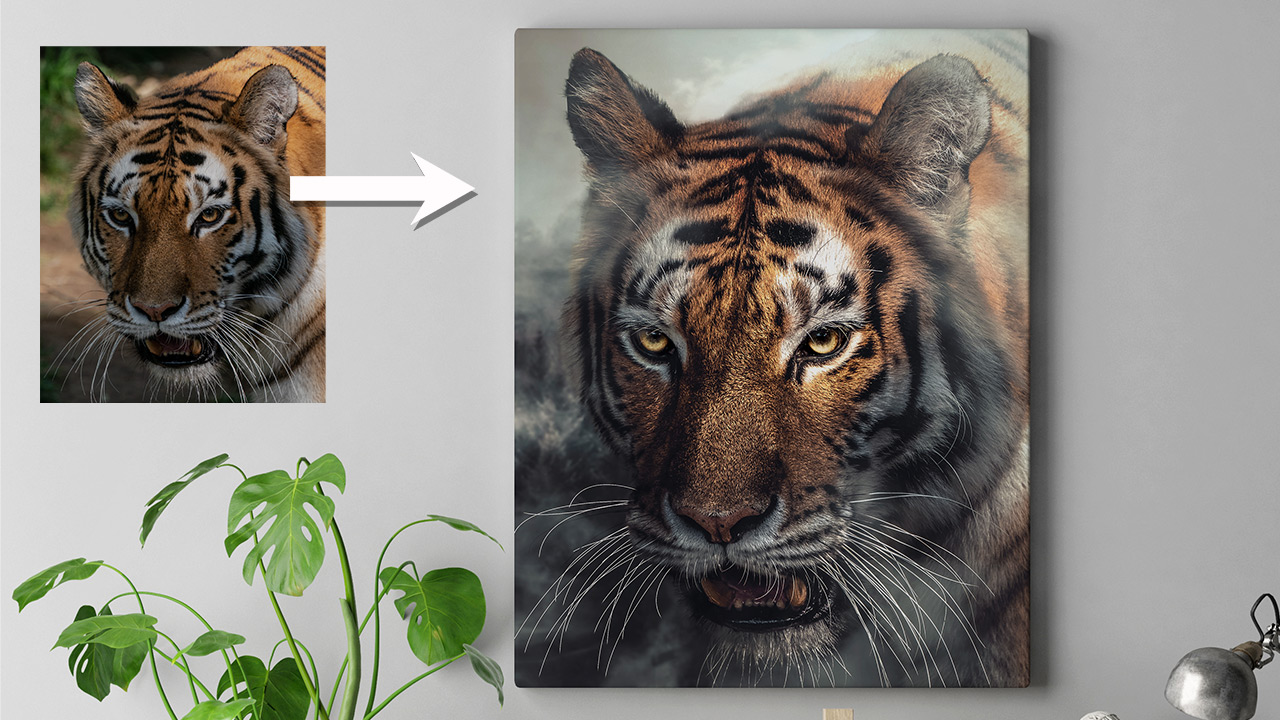 How to Turn Boring Photo into Canvas Painting in Photoshop