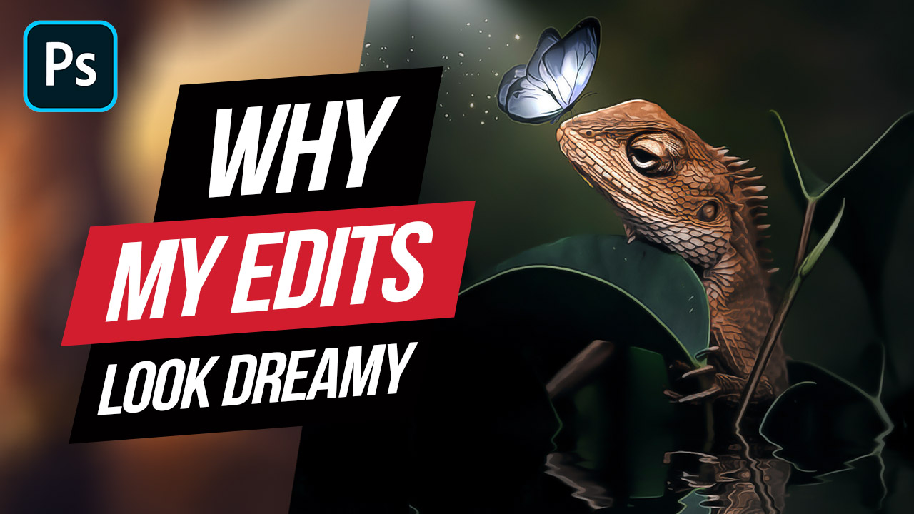 Fantasy Photoshop Tutorial – Glowing Butterfly & Iguana