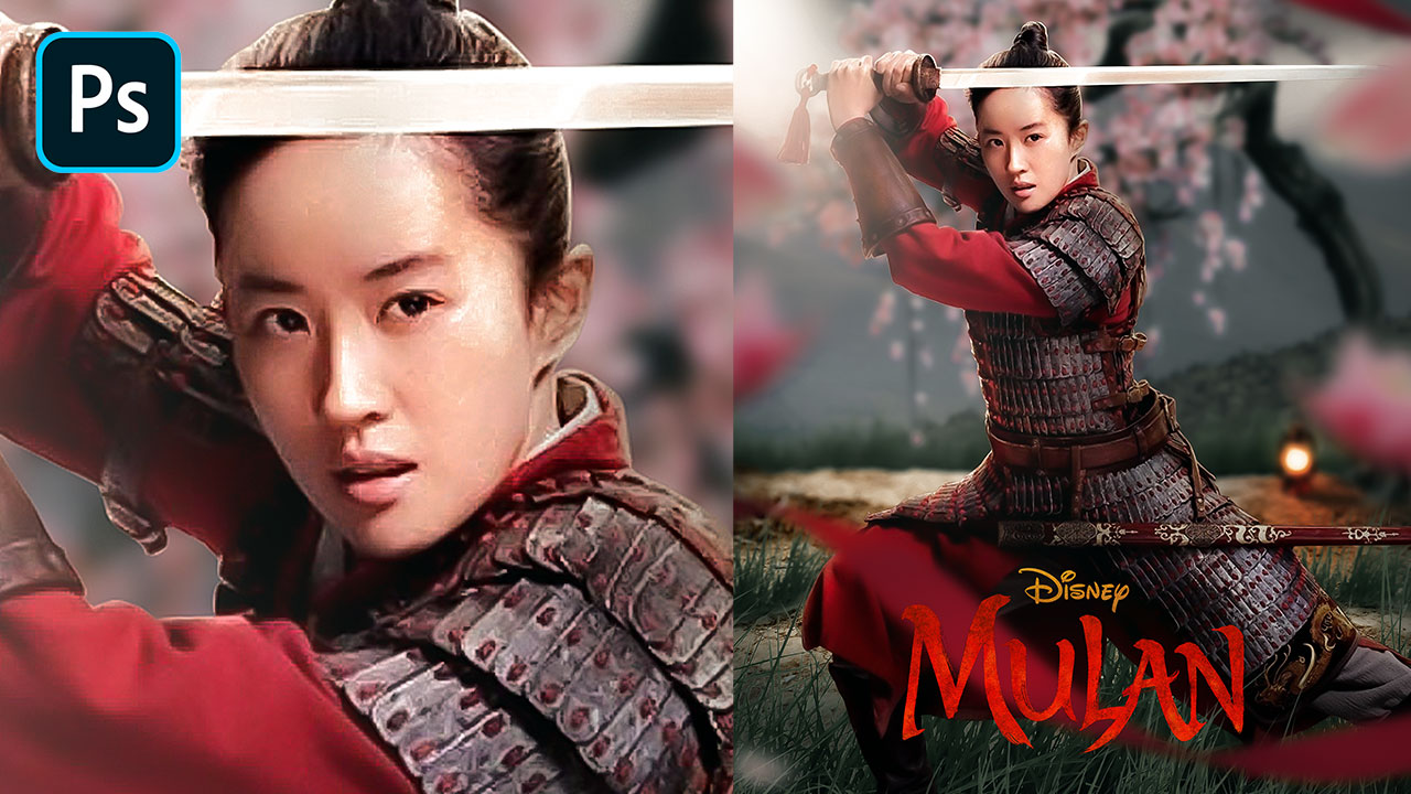 Mulan (2020) Movie Poster – Photoshop Tutorial (Full Video)