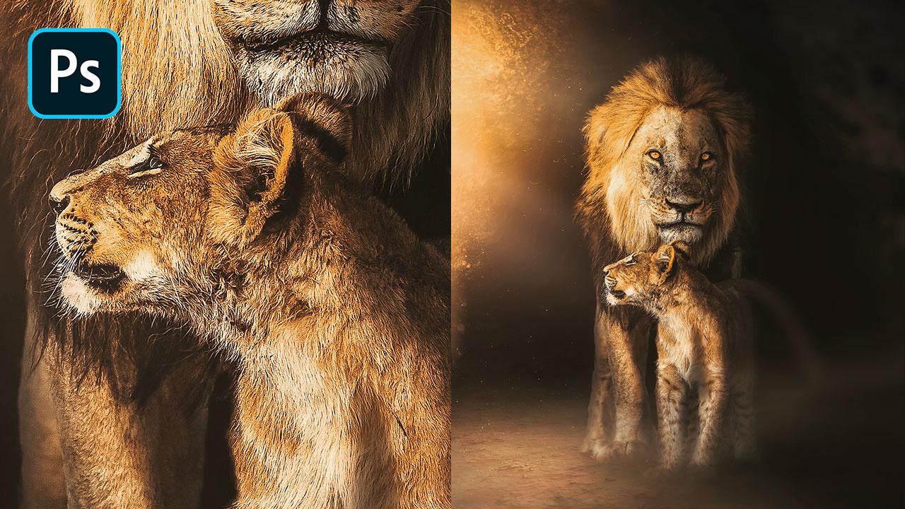 Photoshop Manipulation Tutorial – The Lion's Cave